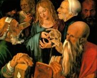 Албрехт Дюрер. Христос среди врачей. 1506. Галерея Thyssen-Bornemisza, Мадрид