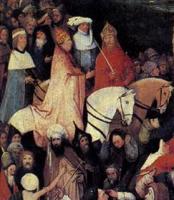 Иеронимус Босх. Перевоз сена. 1485-90; фрагмент. Прадо, Мадрид
