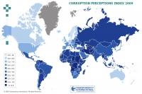 Опубликован «Индекс восприятия коррупции» (CPI) за 2009 год, составляемый ежегодно экспертами международной организации Transparency International.