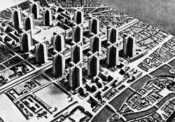 """Ле Корбюзье. """"План Вуазен"""" для Парижа. 1925 г."""