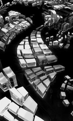 З. Хадид. Концепция застройки района One North в Сингапуре. 2001 г.