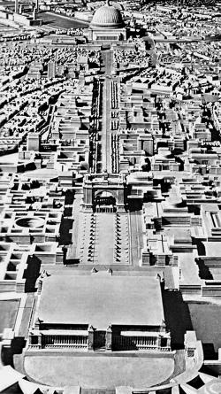 А. Шпеер. Фрагмент генплана Берлина. Конец 1930-х гг.