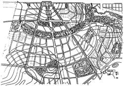 В.Семенов. Генплан поселка Прозоровка под Москвой. 1912 г.